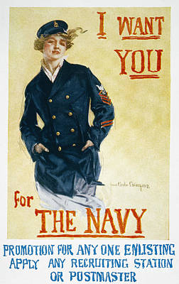 Patriotic Painting - Navy Poster, 1918 by Granger
