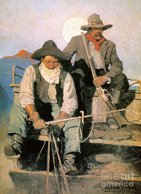 N.c Photograph - N.c. Wyeth: The Pay Stage by Granger