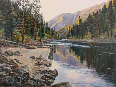 Salmon Painting - Near Smith Gulch by Steve Spencer