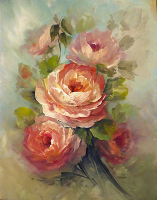 Nectar Roses Print by David Jansen