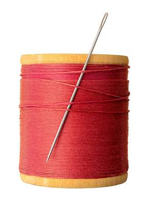 Seamstress Photograph - Needle And Thread by Jim Hughes
