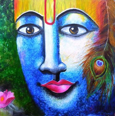 Neela Madhava Print by Tejaswani  Sharma
