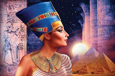 Pyramids Photograph - Nefertiti Variant 5 by Andrew Farley