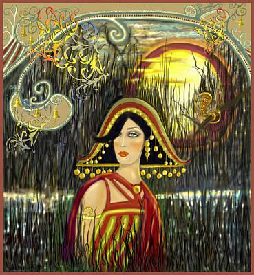 Brass Snake Digital Art - Nefetiti by Lynell Withers