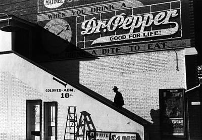 1930s Candid Photograph - Negro Going In Colored Entrance by Everett