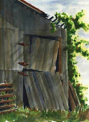 Old Barns Painting - Neighbor Dons Old Barn 3 by Marsha Elliott