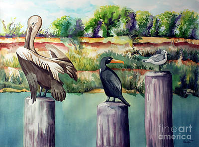 Watercolor Painting - Neighborhood Gossip by Kandyce Waltensperger
