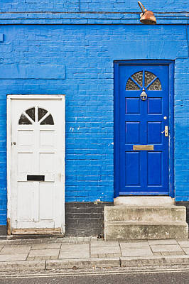 Letter Box Photograph - Neighboring Doors by Tom Gowanlock