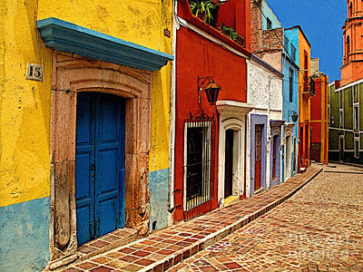 Guanajuato Photograph - Neighbors Of The Yellow House by Mexicolors Art Photography