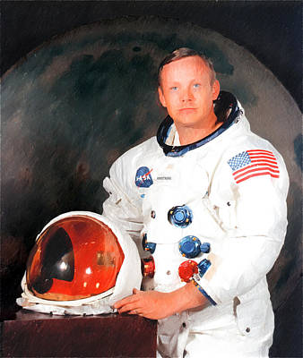 Tn Drawing - Neil Armstrong by Ericamaxine Price