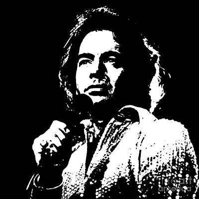 Neil Young Painting - Neil Diamond Singer by John Malone