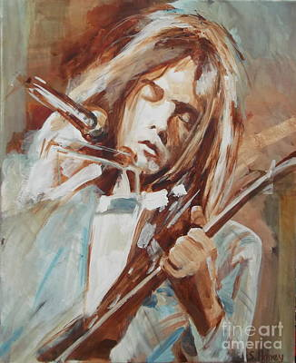 Neil Young Painting - Neil Young by Sandra Haney