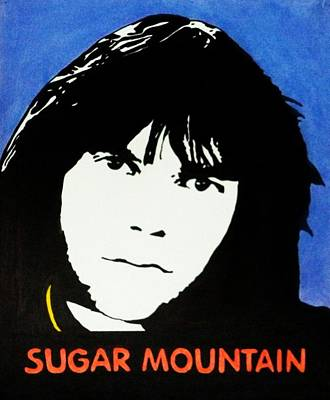 Neil Young Drawing - Neil Young Sugar Mountain by Kenneth Regan