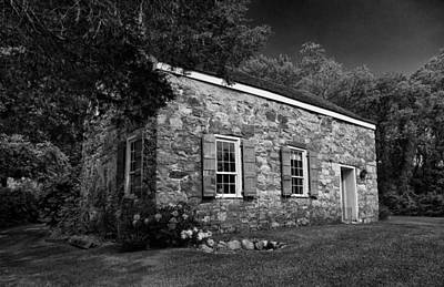 Historic Site Photograph - Neldon - Roberts Stonehouse Montague New Jersey Black And White by David Smith