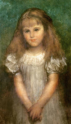 Long Necklace Painting - Nellie Ionides by George Frederick Watts