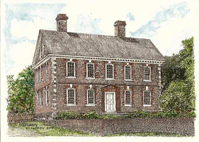 Drawing - Nelson House Yorktown Virginia by Stephany Elsworth