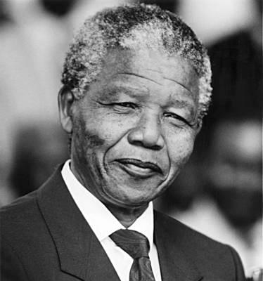 Nelson Mandela Print by Everett