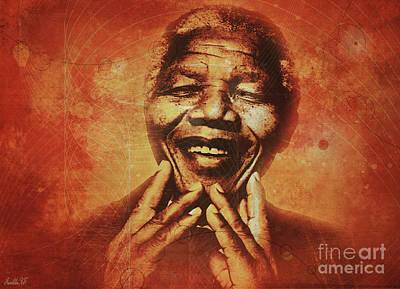 Rights Of Man Digital Art - Nelson Mandela by Kathy Franklin