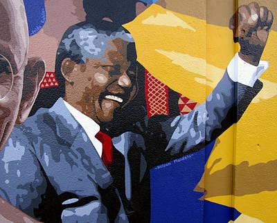 Nelson Mandela Original by Roberto Valdes Sanchez