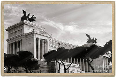 Capitoline Photograph - Neoclassical Architecture In Rome by Stefano Senise