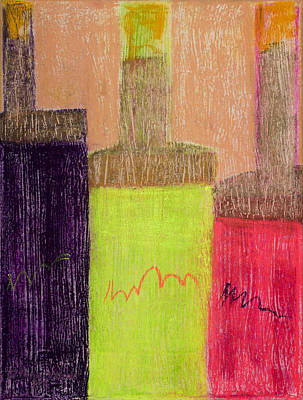 Neon Bottles #1 Original by Diana Wade