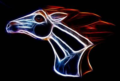 Pets Photograph - Neon Bronco II by Shane Bechler