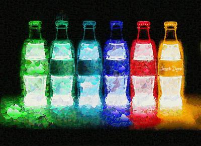 Coke Digital Art - Neon-cola - Da by Leonardo Digenio