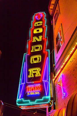 Neon Condor San Francisco Print by Garry Gay