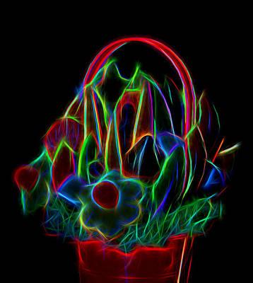 Neon Friut Basket Original by Linda Phelps