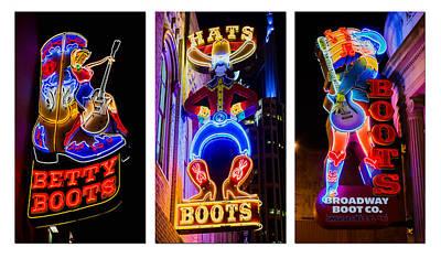 Neon Nashville Print by Stephen Stookey