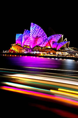 Famous Buildings Photograph - Neon Nights by Az Jackson
