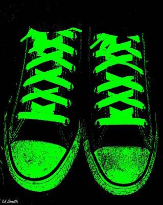 Jogging Digital Art - Neon Nights by Ed Smith