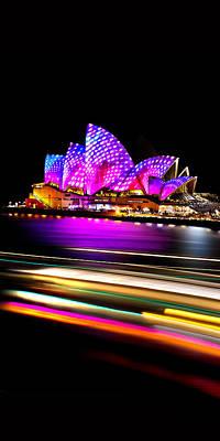 Famous Buildings Photograph - Neon Nights Panorama by Az Jackson