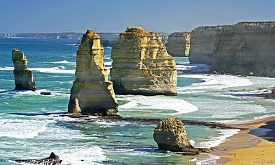 Great Ocean Road Photograph - Neptune's Sculptures by Holly Kempe