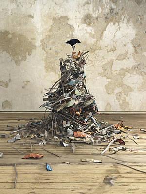 Magpies Digital Art - Net Worth by Cynthia Decker