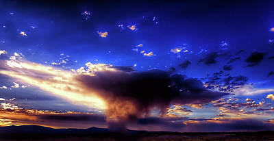 Photograph - Nevada Cold Air Funnel Cloud by Tommy Anderson