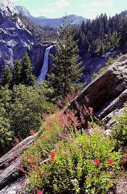 Nevada Falls Yosemite National Park Print by Alan Lenk