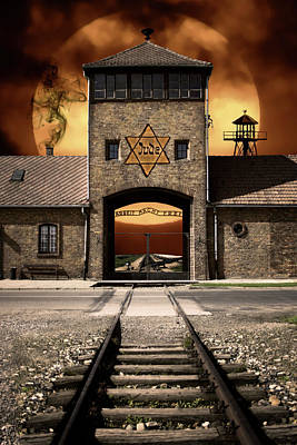 Auschwitz Photograph - Never Forget ............. In Remembrance. by Daniel Hagerman