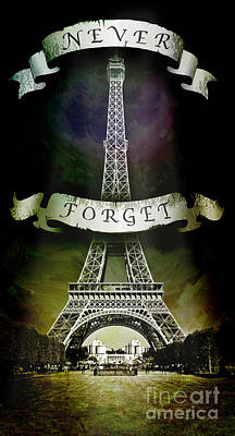 Never Forget Print by Michael  Volpicelli