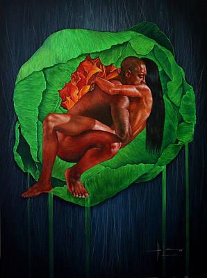 Human Sacrifice Art Painting - Never Let Me Go by Hari Lualhati