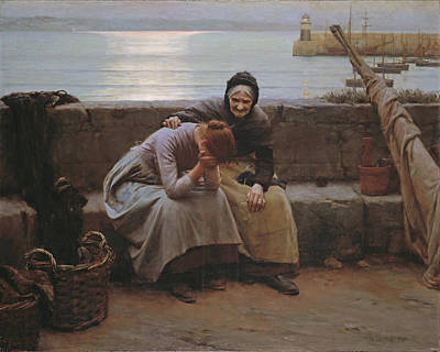 Walter Langley Painting - Never Morning Wore To Evening But Some Heart Did Break by Walter Langley