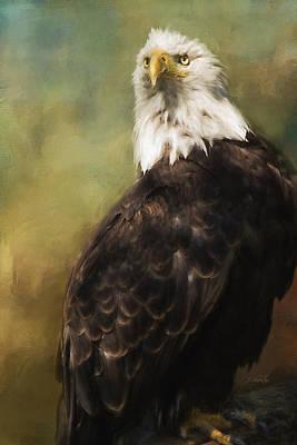 Jordan Painting - Never Settle - Eagle Art by Jordan Blackstone