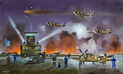 Ww11 Aircraft Painting - Never So Few by Ken Wood