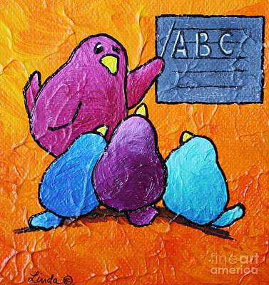 Limbbirds Painting - Never Stop Learning by LimbBirds Whimsical Birds