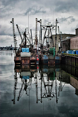 Brown Toned Art Photograph - New Bedford Waterfront No. 1 - Color by David Gordon