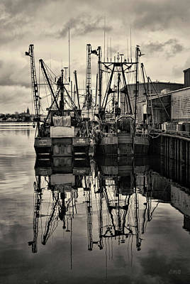Brown Toned Art Photograph - New Bedford Waterfront No. 1 by David Gordon