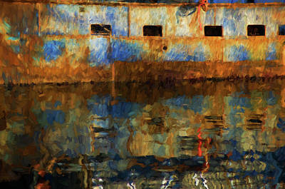 Brown Toned Art Photograph - New Bedford Waterfront No. 6 by David Gordon