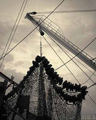 Netting Photograph - New Bedford Waterfront Xvii Toned by David Gordon