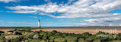 New England Lighthouse Digital Art - New Brighton Lighthouse  by Adrian Evans
