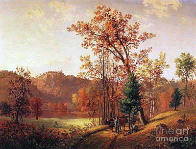 Gerry Painting - New England Autumn by Samuel Lancaster Gerry